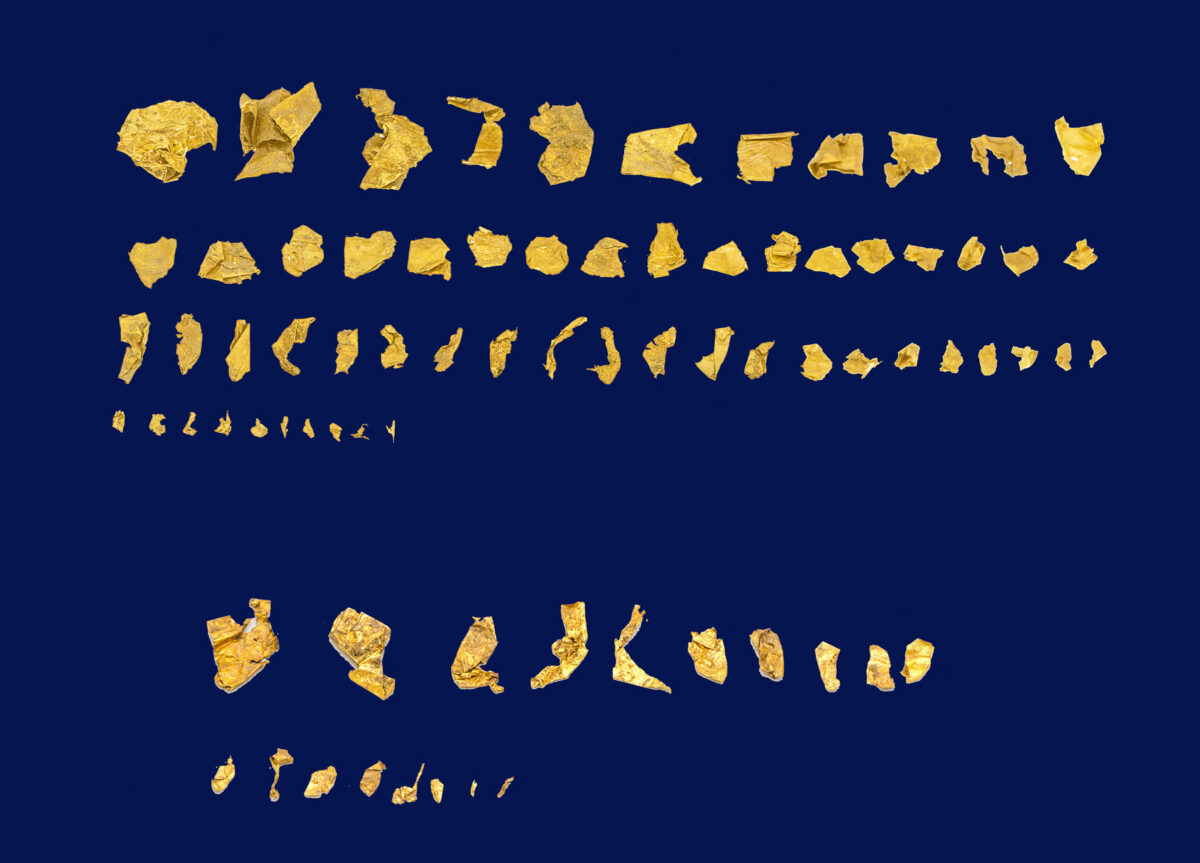 Part of the small sheets of gold found at Zominthos (photo: MOCAS).