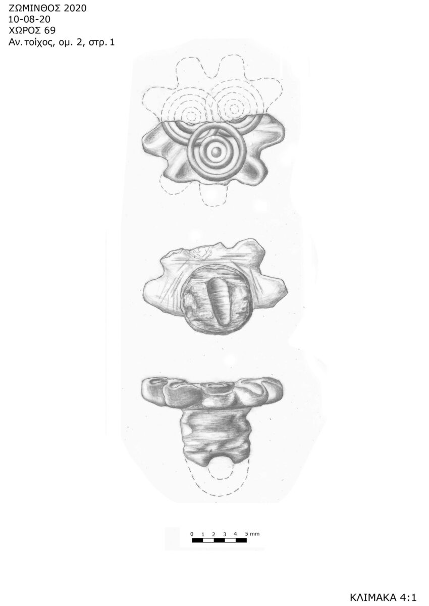 Design of the flower shaped seal discovered in Zominthos (photo: MOCAS).