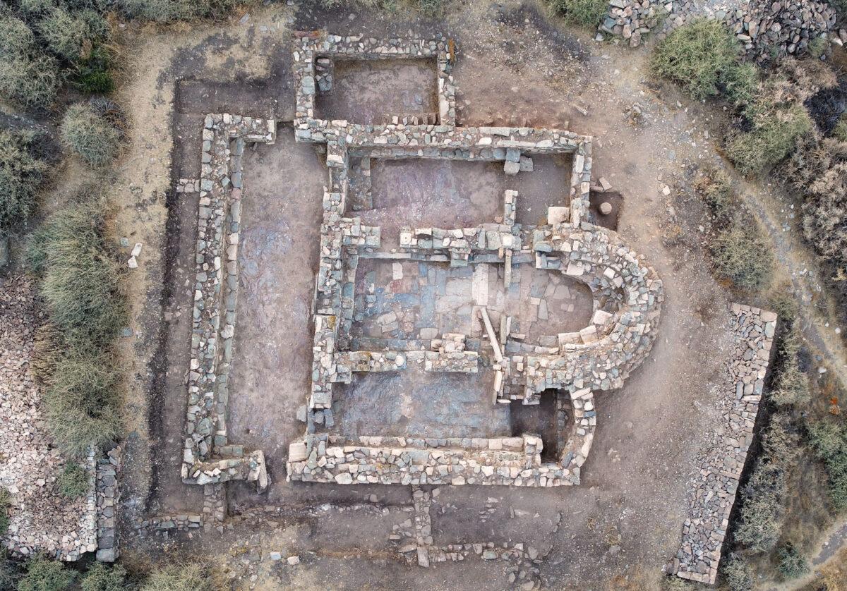 Fig. 15. Aerial photograph of three aisled Early Christian Basilica. (photo: Kostas Xenikakis)
