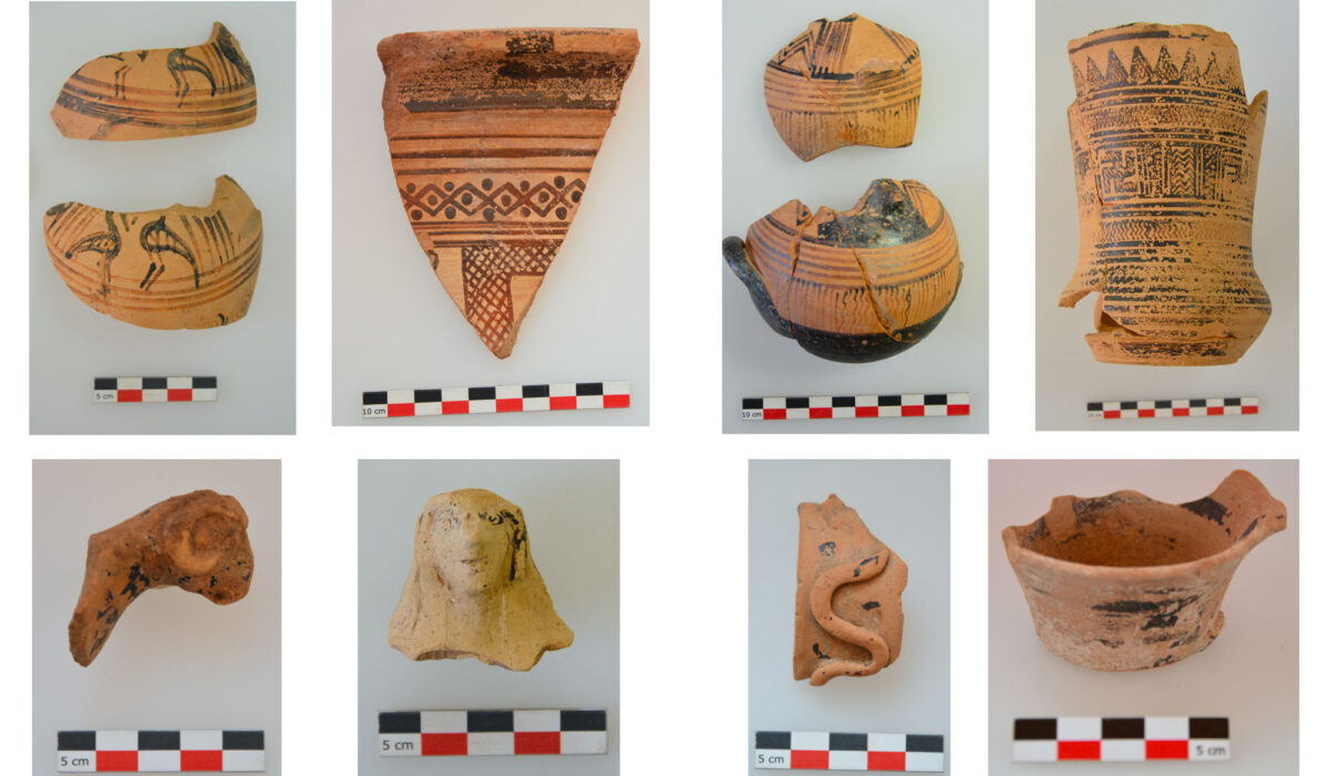 Fig. 5. Geometric and Archaic ceramics from the sanctuary.