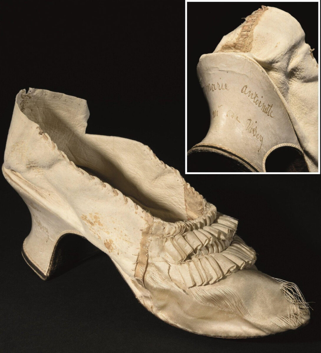 Marie Antoinette's shoe auctioned at Osenat (photo: Osenat).