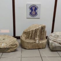 Arrest for trafficking of archaeologicaly valuable artefacts