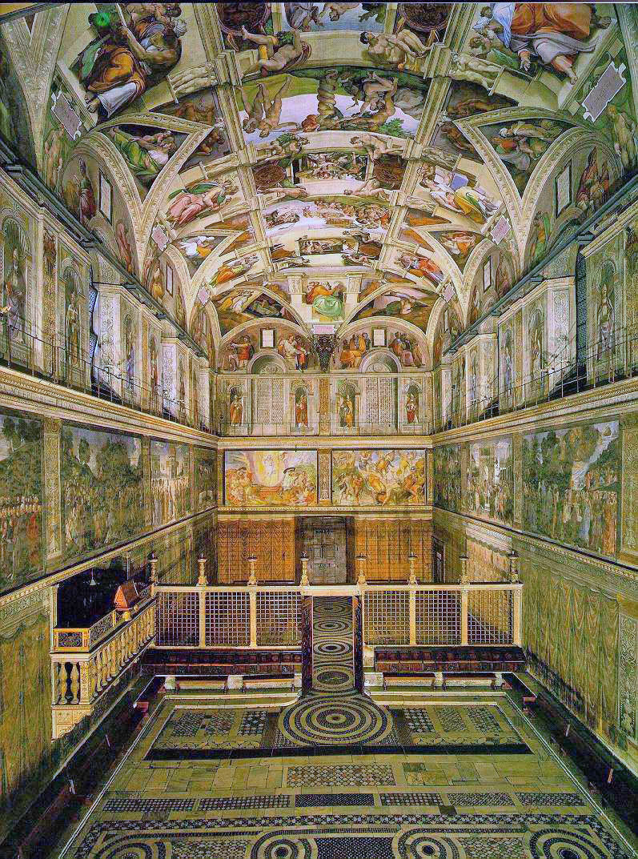 View of the Sistine Chapel (photo: Wikipedia).