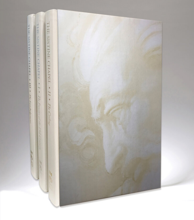 The three-volume set on the Sistine Chapel is the result of a five-year collaboration between Callaway, the Vatican Museums, and the Italian art publisher Scripta Maneant of Bologna, Italy.