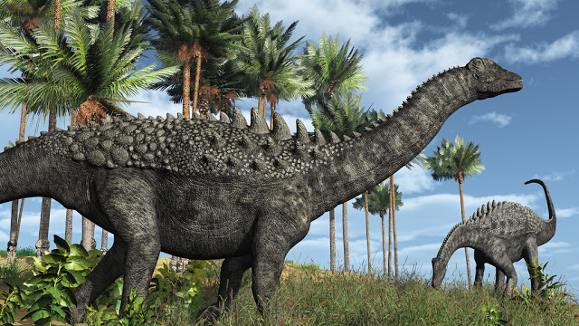 Titanosaurs were common at the time of the asteroid hit at the end of the Cretaceous 66 million years ago. Credit: AlienCat