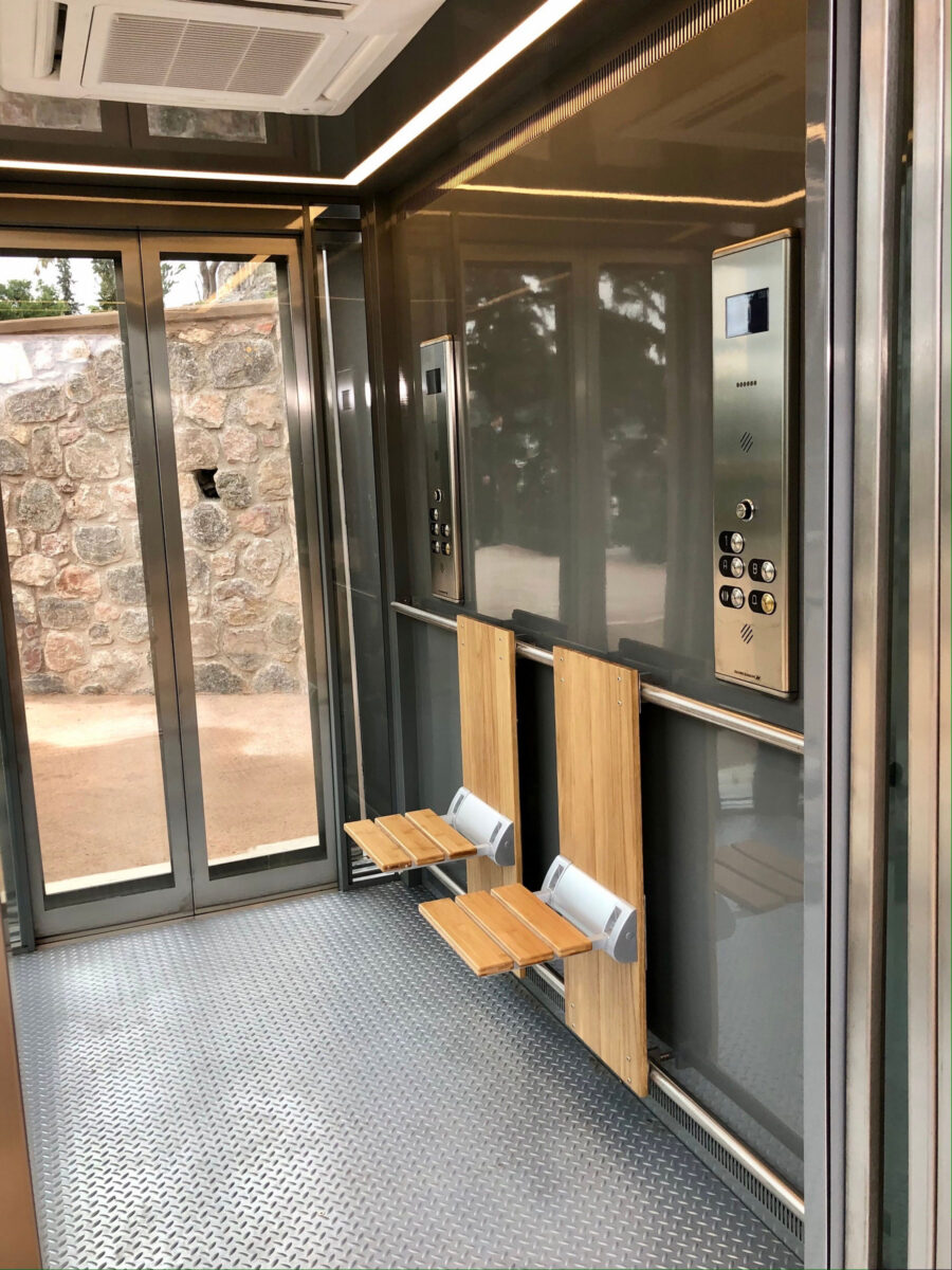 The cabin of the slope lift (photo: MOCAS)