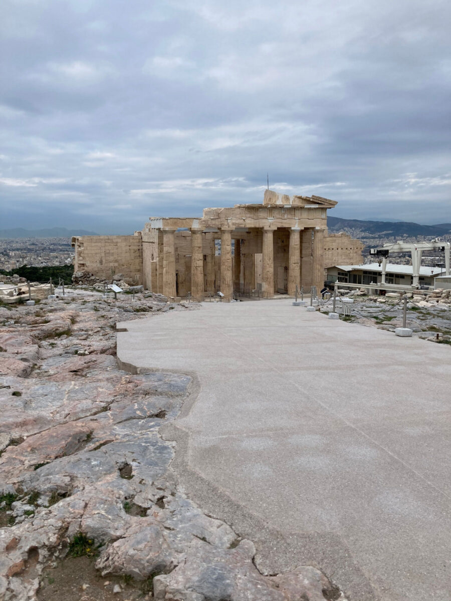 The new route with the Propylaea in the distance (photo: MOCAS)