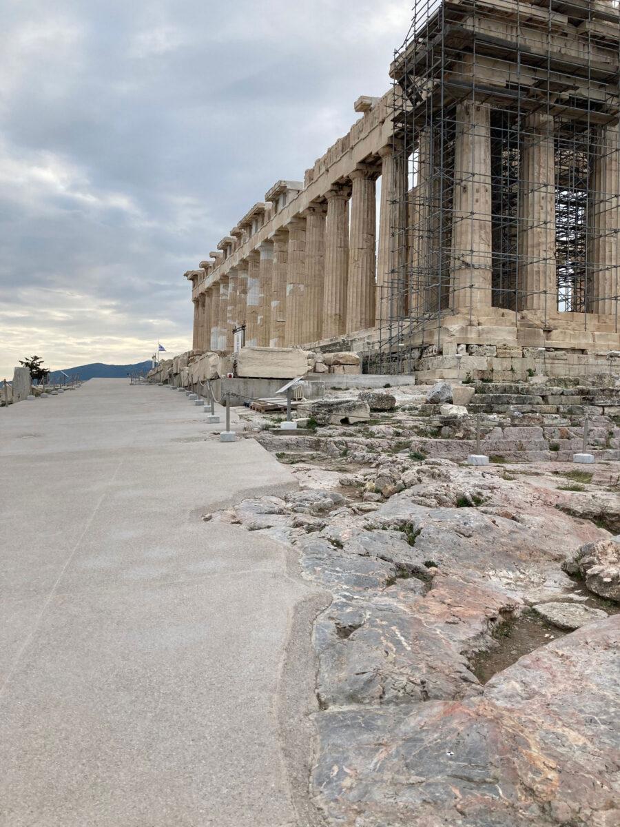 The new route next to the Parthenon (photo: MOCAS)