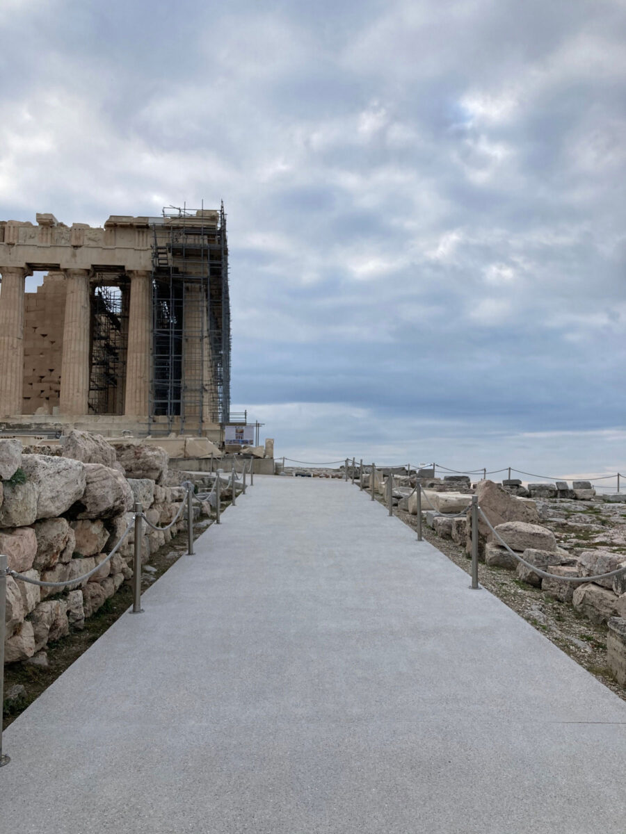 The route towards the Acropolis for people with disabilities (photo : MOCAS)