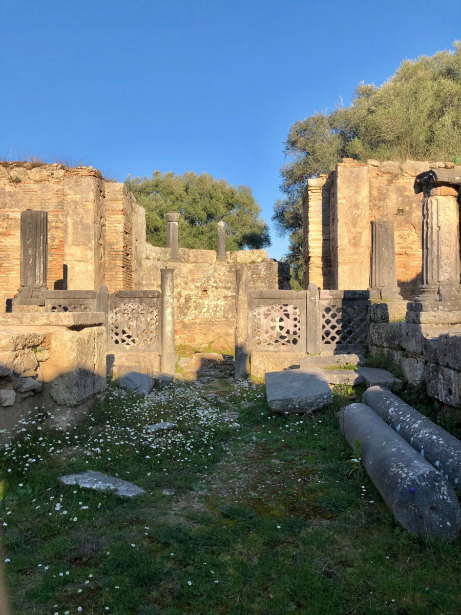 The building, believed by researchers to be the workshop of Pheidias, is situated in a central part of the archaeological site of Olympia (photo: MOCAS)