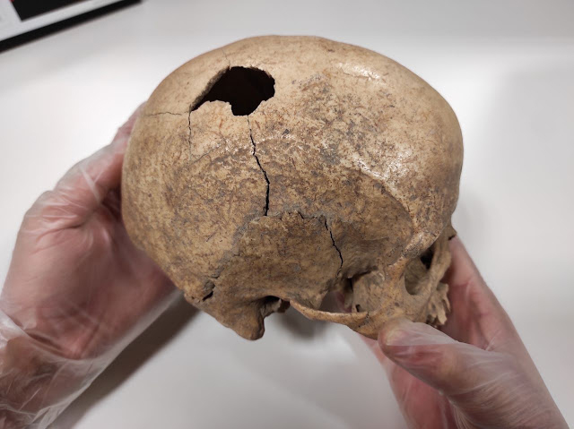 A violent death in the Cova Foradada about 5,000 Years Ago