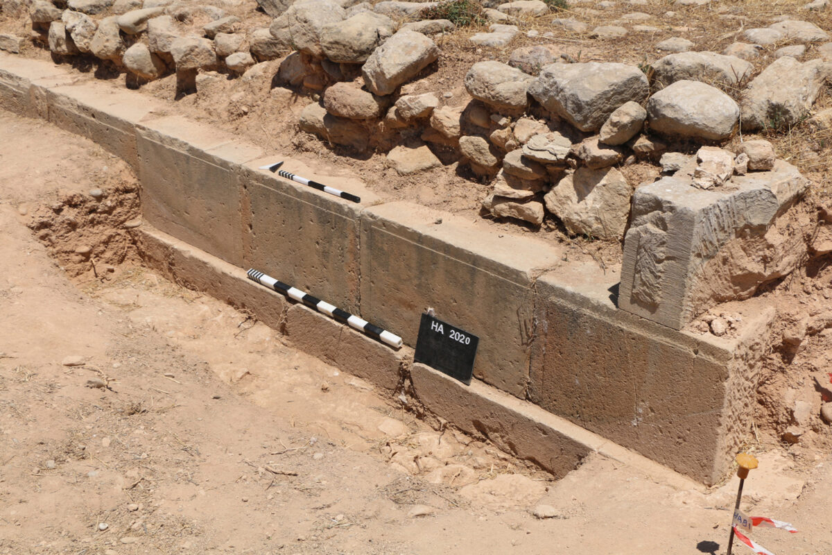 Fig. 3. Investigations were conducted at the foundations of the ashlar walls belonging to the impressive southern wall.