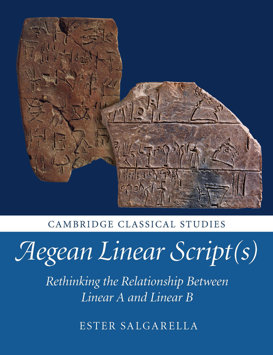 'Aegean Linear Script(s)', by Dr. Ester Salgarella, Cambridge University Press.