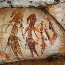 Australia's oldest known intact Aboriginal rock painting is a kangaroo