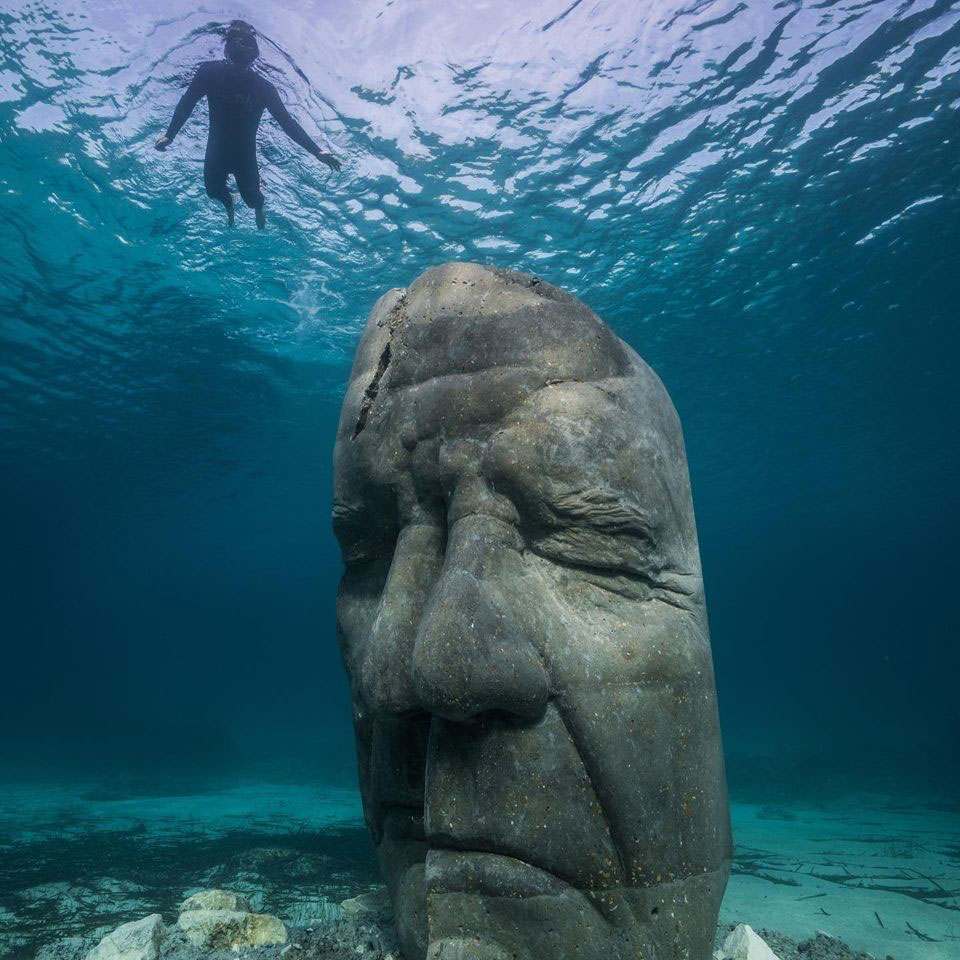 Sculpture by Jason deCaires Taylor (photo from artist's page on Facebook).