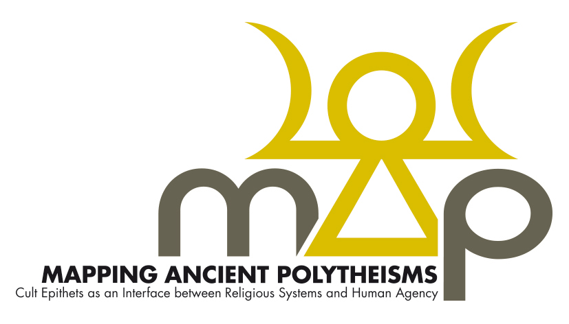 The logo of the Mapping Ancient Polytheisms Database (DB MAP).