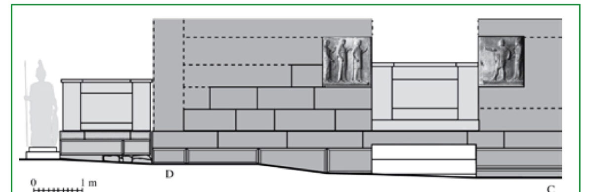 Reconstruction drawing of the plaques' position (photo: AMNA)