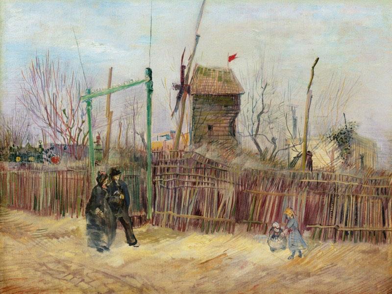 Vincent van Gogh, Scène de rue à Montmartre, 1887, oil on canvas. Photo credit : Sotheby's.