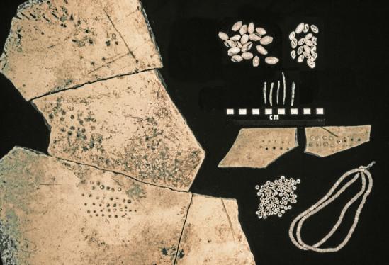 A Chumash kit for making shell beads. Photo Credit: SANTA BARBARA MUSEUM OF NATURAL HISTORY