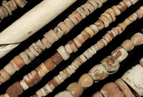 Shell beads found in the Santa Barbara Channel region as well as elsewhere in California. Photo Credit: TACY KENNEDY / SANTA BARBARA MUSEUM OF NATURAL HISTORY