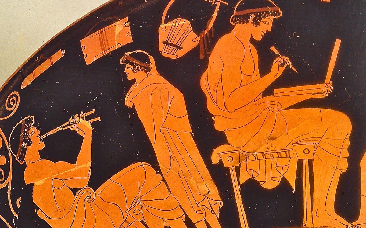 Douris kylix, 485-480 BC. Antikenmuseum, Berlin.