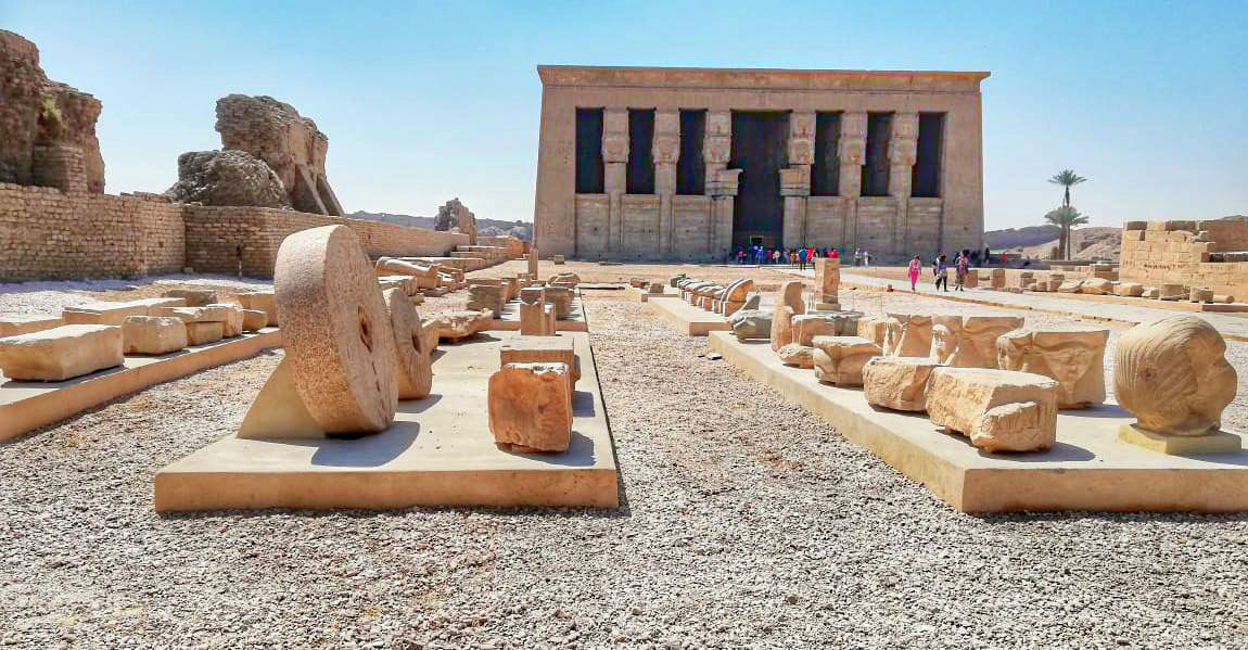 View of the Dendera Temple complex. Credit: Egypt. Ministry of Antiquities