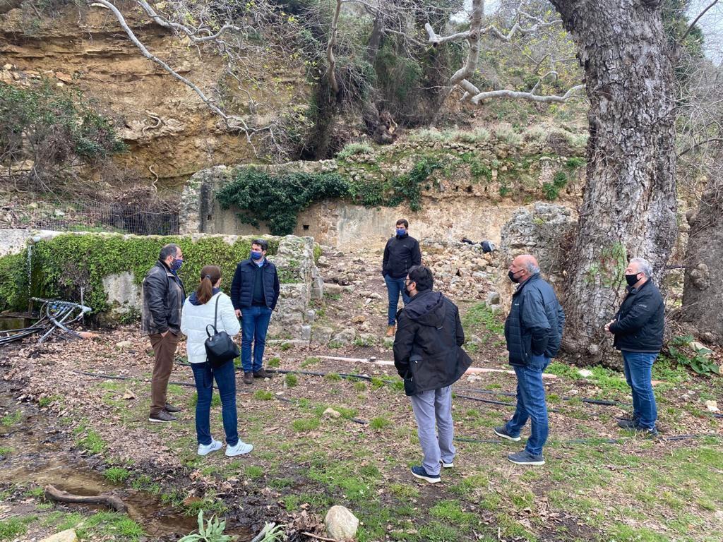 Snapshot of the inspection at the Venetian Villa (photo: Chania Municipality)