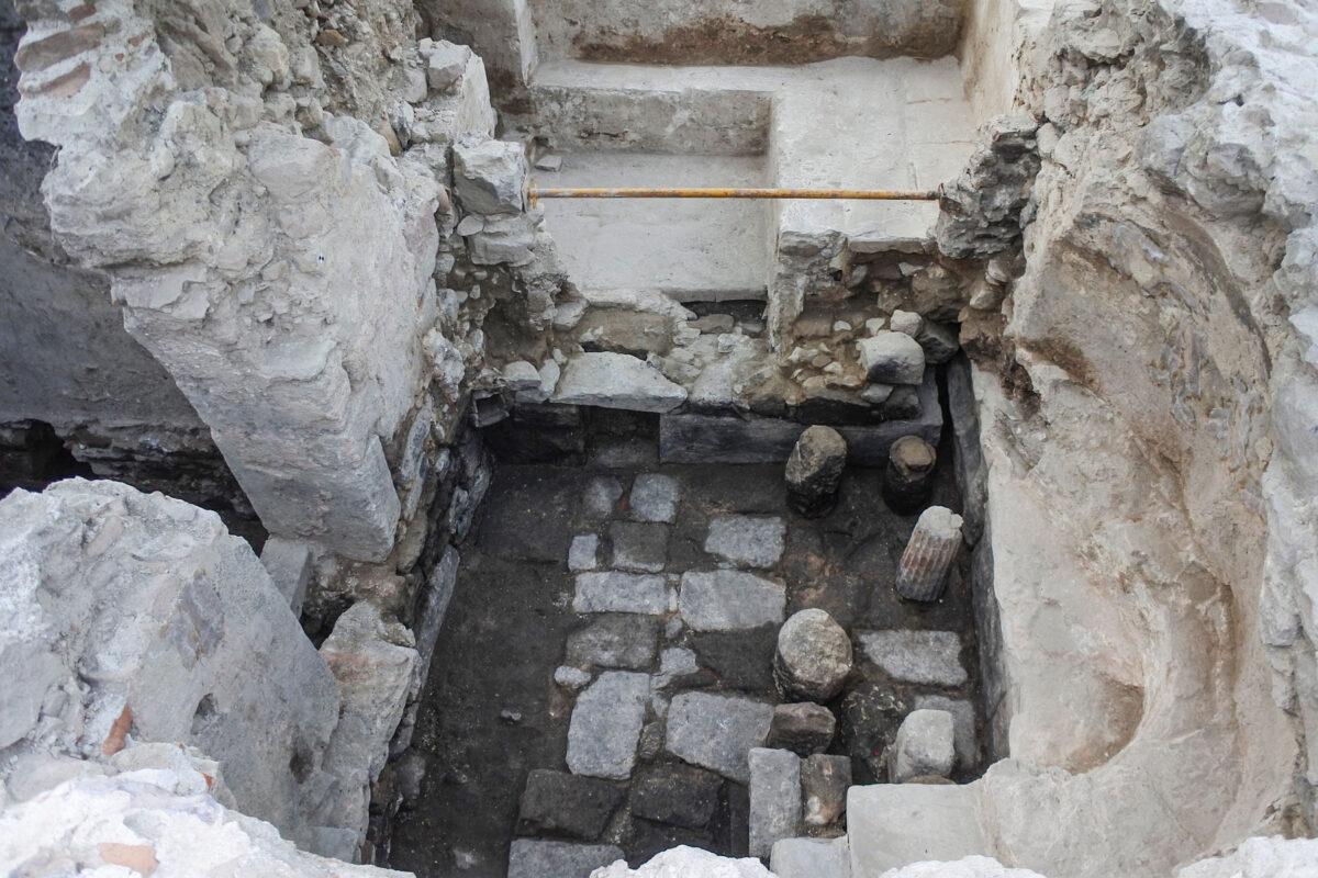 16th century Ottoman bath house in the Kato Kastro, Mytilene (photo: MOCAS)