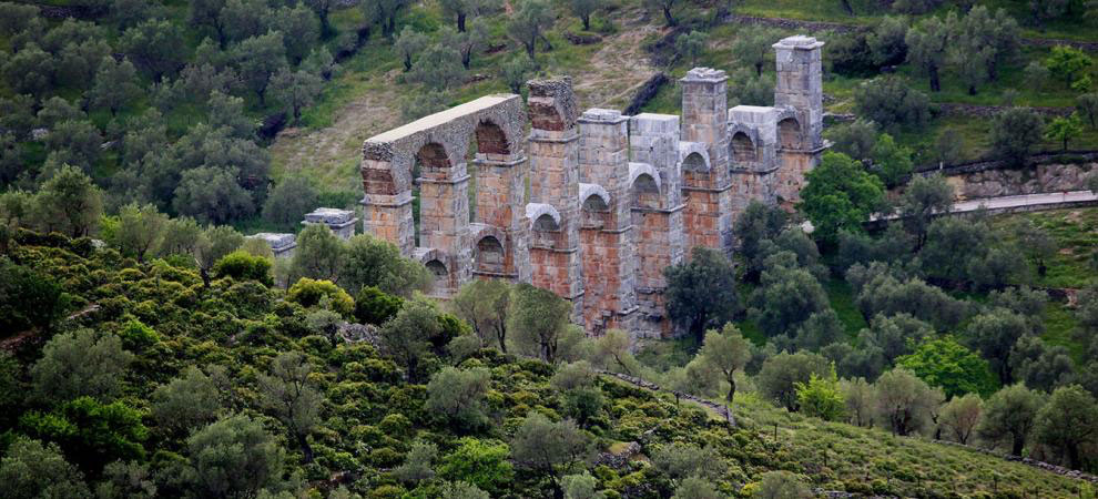 The Roman aqueduct of Mytilene (photo: Lesbos Ephorate of Antiquities)