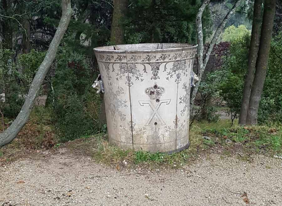 One of the four historic cachepots that adorned the gardens of the former Palace at Tatoi (photo: MOCAS)