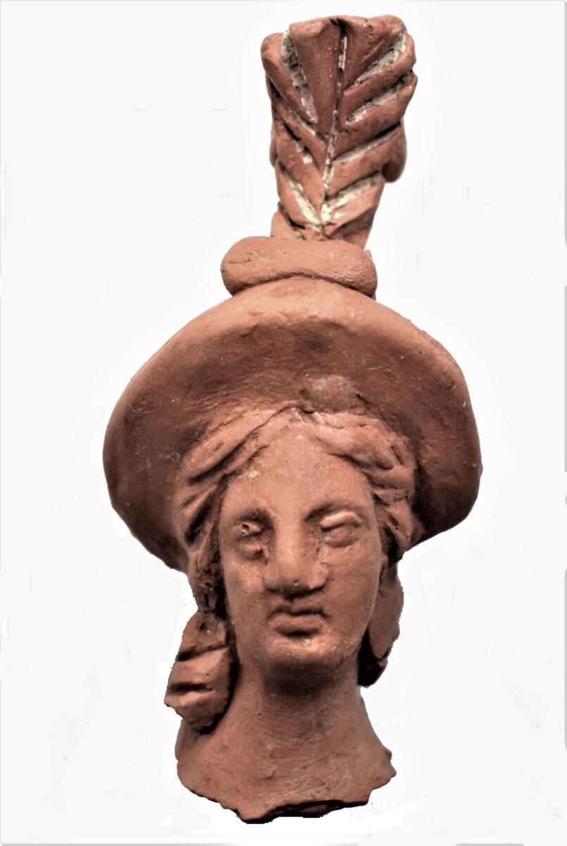 Figurine of Athena, 2nd c. BC. Photo: Hemathia Ephorate of Antiquities