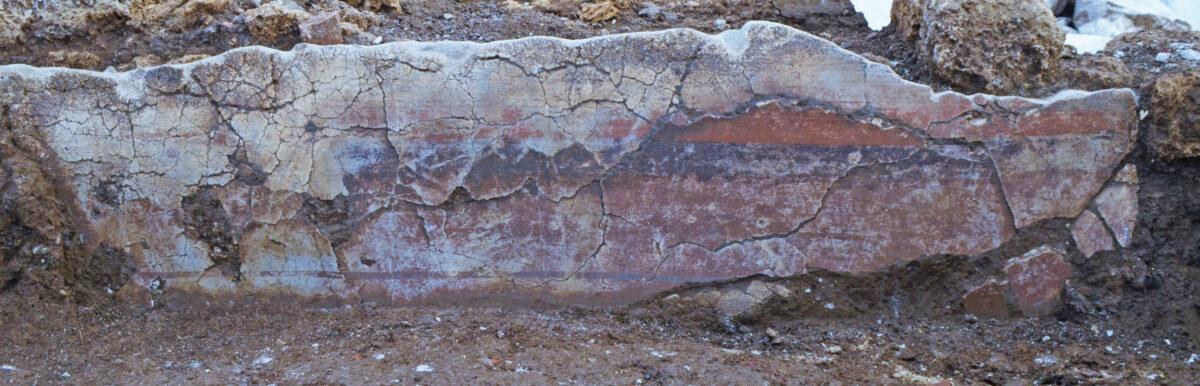Plasters in situ. Photo: Hemathia Ephorate of Antiquities