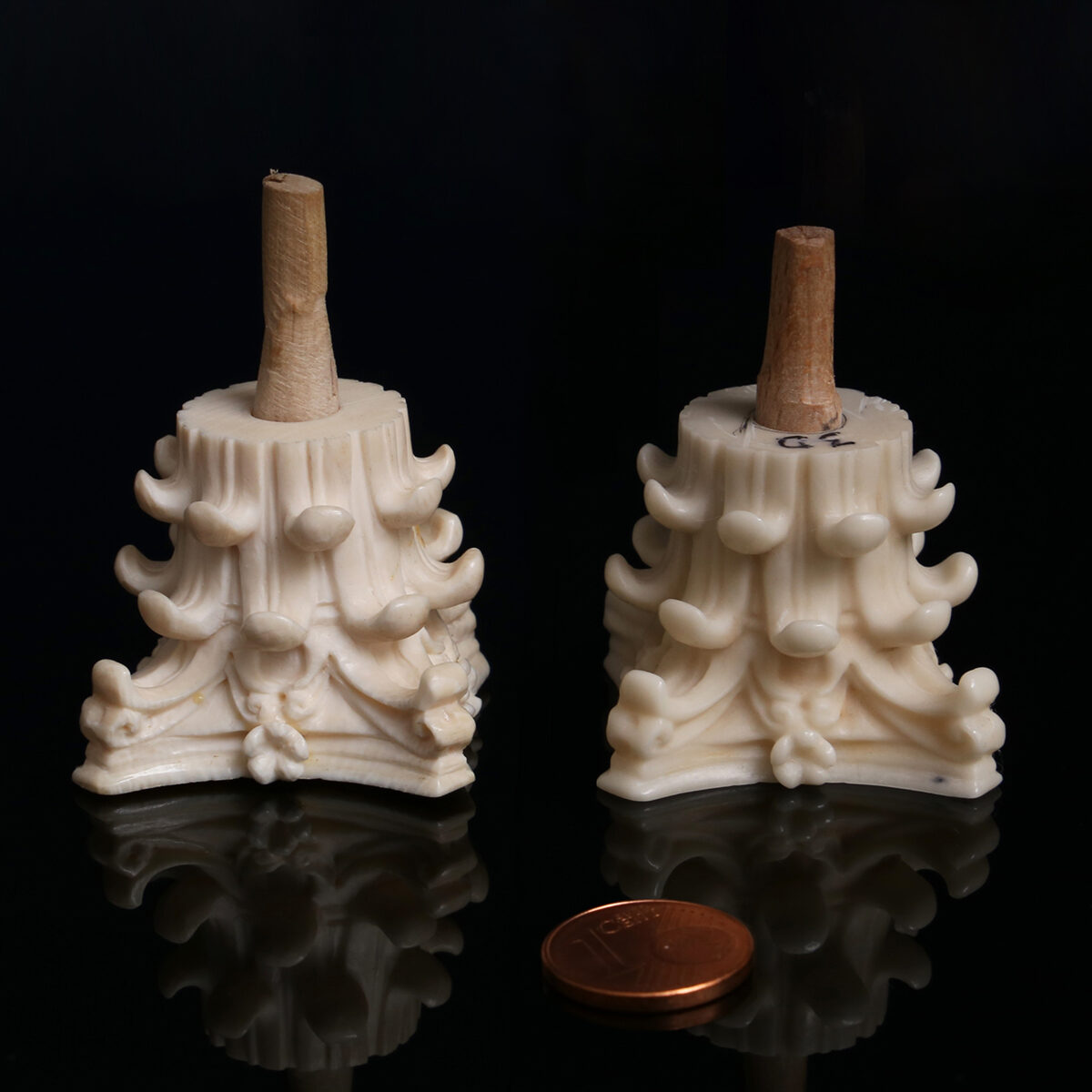 On the right: The new material Digory, ivory on the left. Image credit : TU Wien.