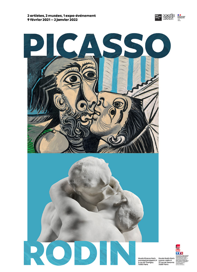 The poster of the exhibition 'Picasso-Rodin'.