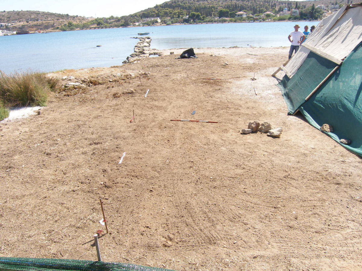 View of the area before the start of the excavation from the north (photo: MOCAS).