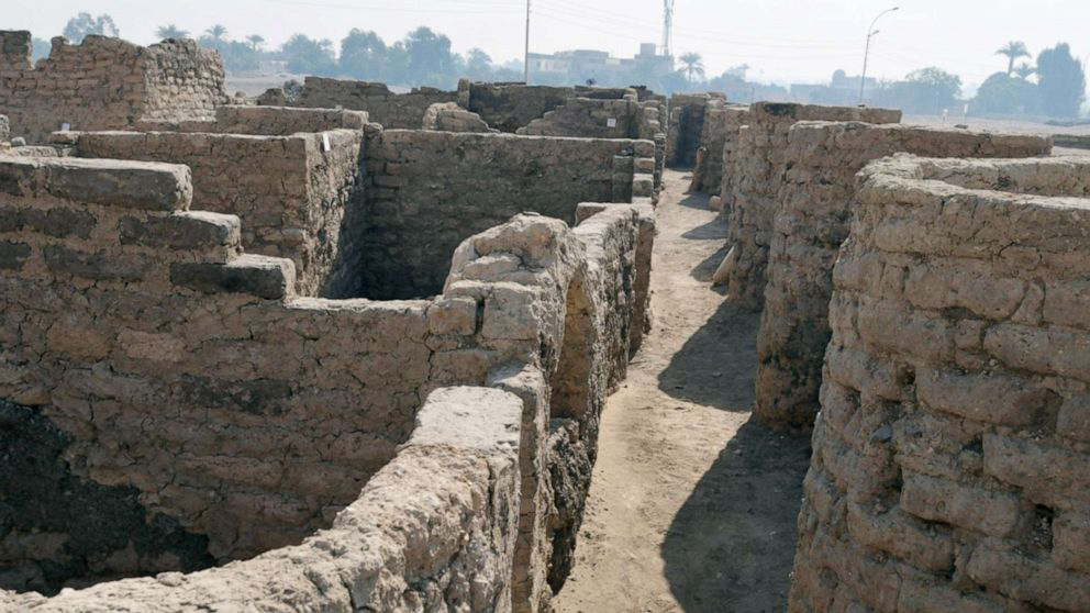 An ancient Egyptian city has been revealed in Luxor's West Bank