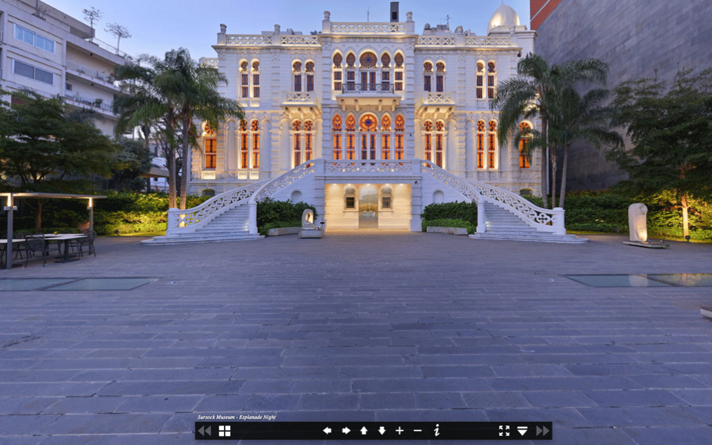 The Sursock Museum before the blast, as documented for the virtual tour. Image : Sursock Museum