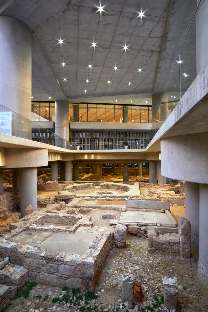 View of the excavation under the Acropolis Museum. © Acropolis Museum. Photo: George Vitsaropoulos