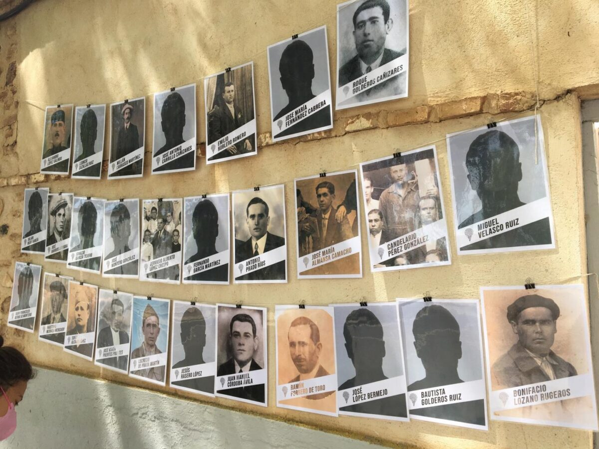 The missing faces of those whose bodies the team are trying to find. Credit : Gema Ortiz Iglesias