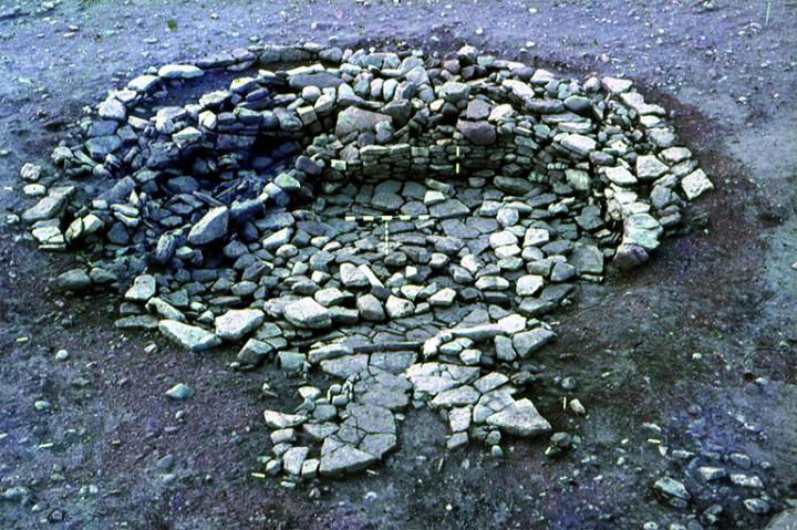 Objects including bone spoons, quernstones and gaming pieces were incorporated into the walls of this Iron Age roundhouse at Broxmouth, Scotland. Credit: Broxmouth Project archive