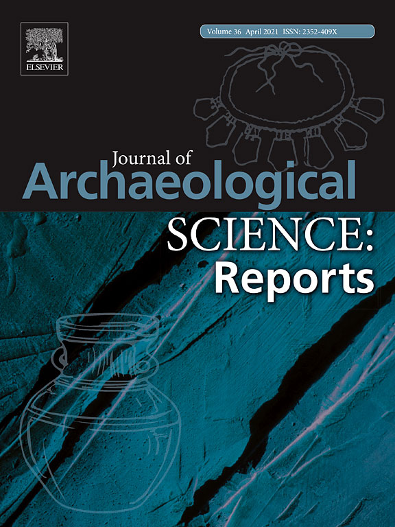 Cover of the Journal of Archaeological Science: Reports.