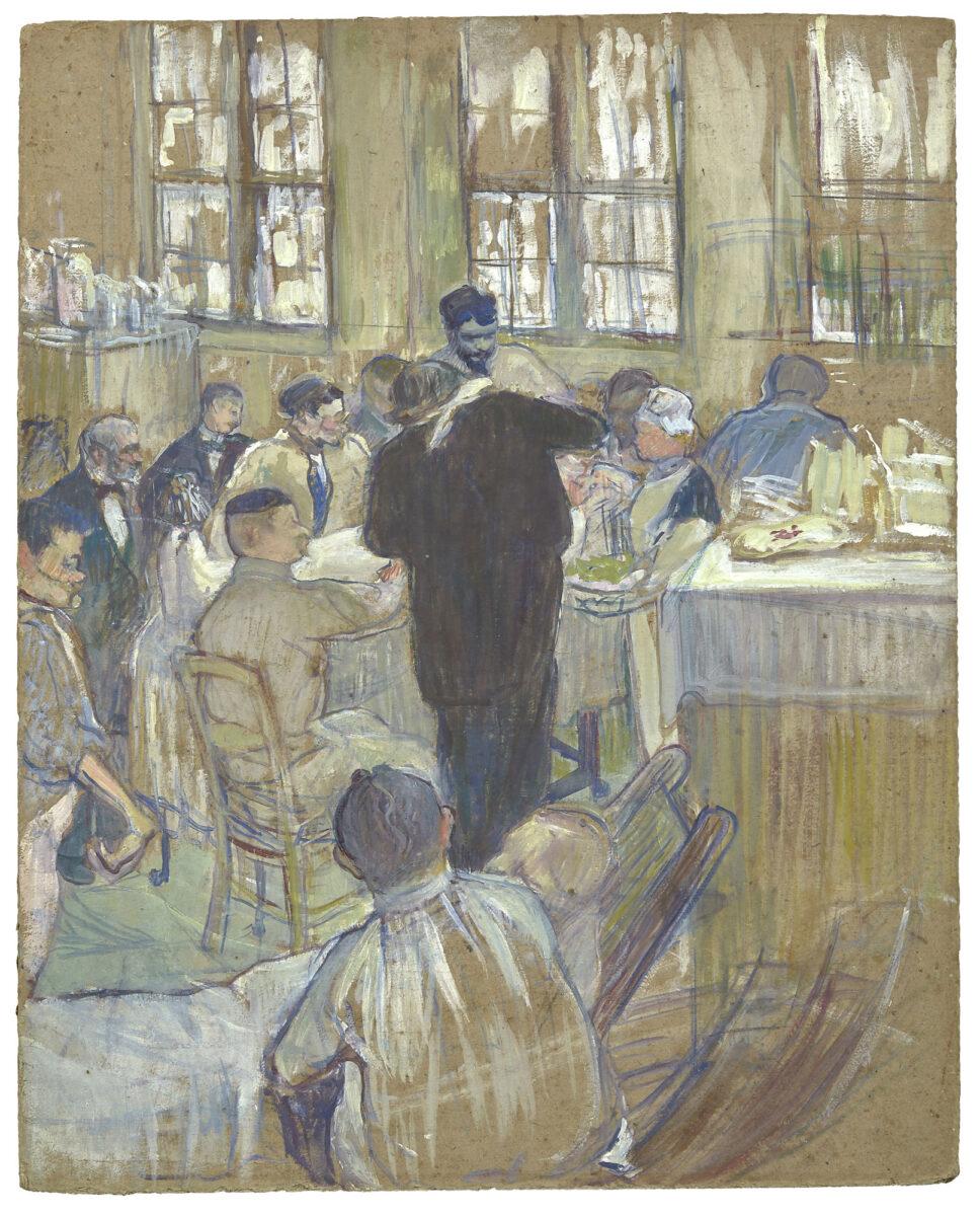 """Henri de Toulouse Lautrec, """"Une opération par le Docteur Péan à l'Hôpital International"""", 1891 (photo: Artcurial)."""