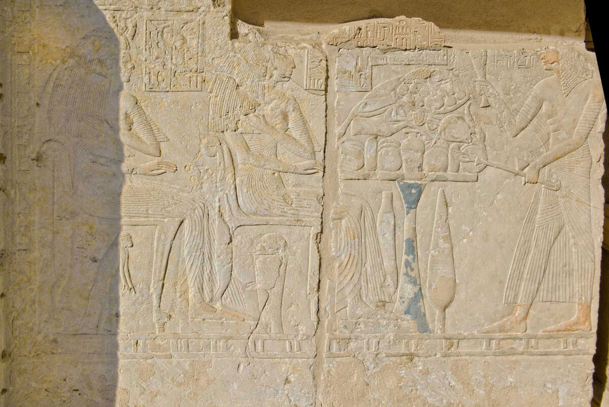 Scene from Maya's tomb in Saqqara. Source: Osirisnet.