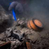 Funerary tumulus and shipwreck revealed at the sunken city of Thônis-Heracleion