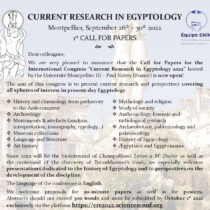 Current Research in Egyptology 2022, Université Montpellier III – Paul Valéry (France)