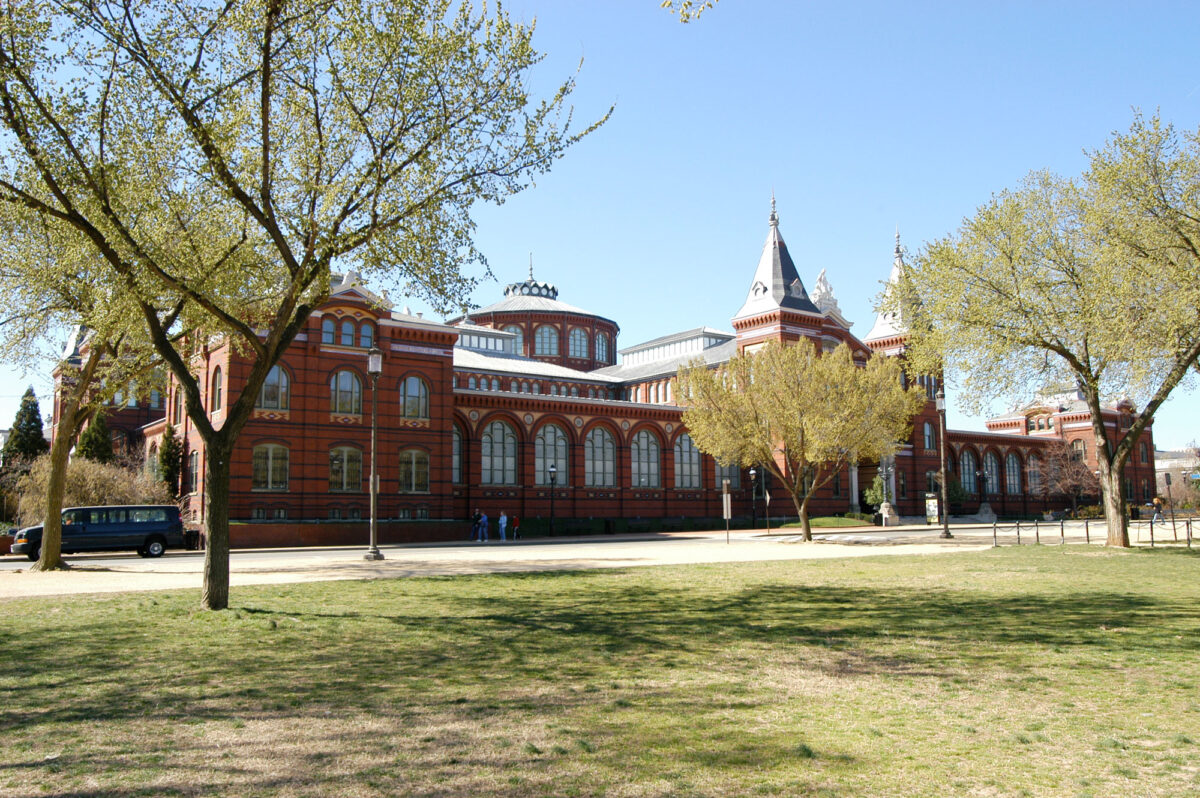 The Arts and Industries Building that will house the