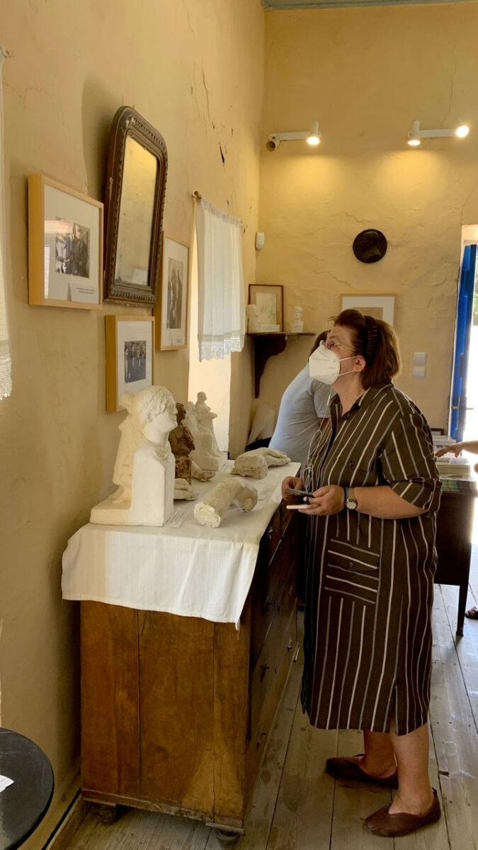 Lina Mendoni at the Halepas Museum (photo: MOCAS)