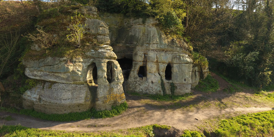 View of Anchor Church Caves in Derbyshire [Credit: RAU]