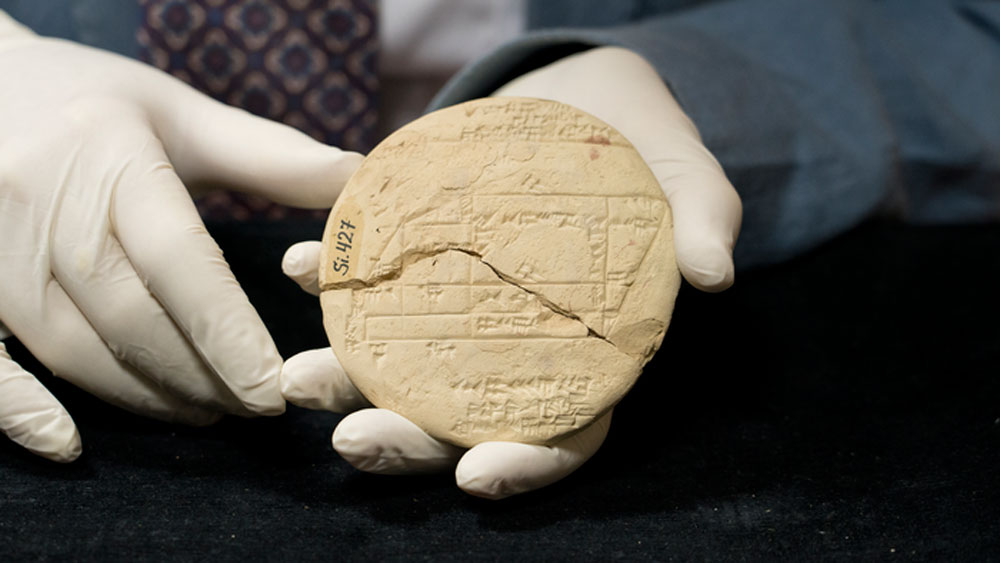 The tablet – known as Si.427 – was discovered in the late 19th century in what is now central Iraq, but its significance was unknown until the UNSW scientist's detective work was revealed today.