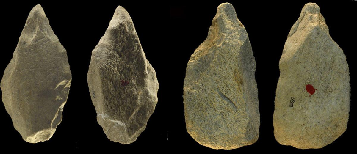 Bone tools excavated from Castel di Guido in Italy. (Credit: Villa et al. 2021 PLOS ONE)